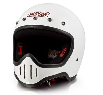 M50ヘルメット ホワイト 57~58cm SIMPSON(シンプソン)
