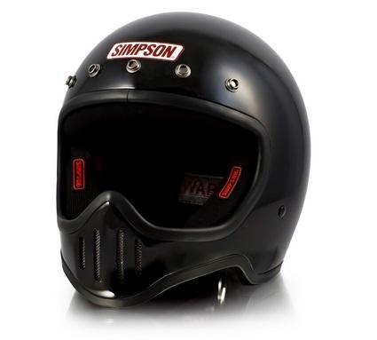 M50ヘルメット ブラック 59~60cm SIMPSON(シンプソン)