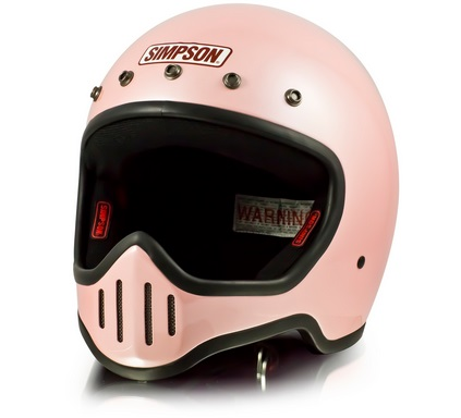 M50ヘルメット パールピンク 61~62cm SIMPSON(シンプソン)