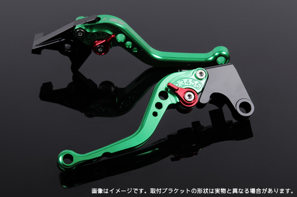 Aprilia RSV4 R/Factory ショートアジャストレバーセット レバー:グリーン SSK(エスエスケー)