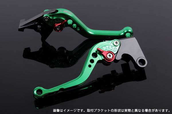 KLX250 ショートアジャストレバーセット レバー:グリーン SSK(エスエスケー)