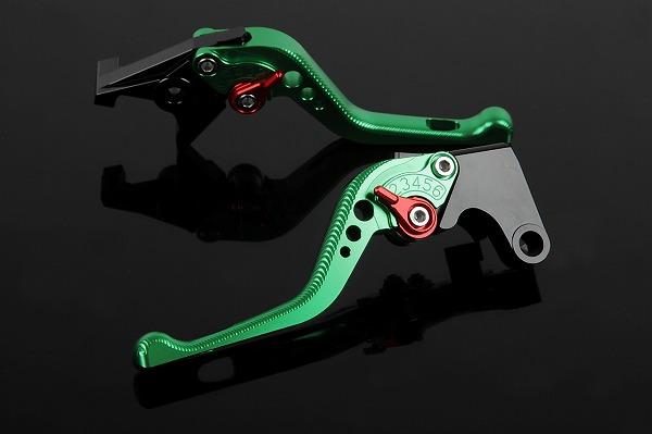 ショートアジャストレバー 3Dタイプ クラッチ&ブレーキセット グリーン (NISSINタンク別体式横型用) SSK(エスエスケー)