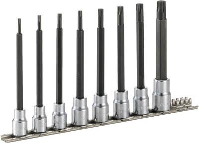 HTX308L TONE ロングトルクスソケットセット(強力タイプ・ホルダー付)(差込角9.5mm・強力タイプ) TONE(トネ)