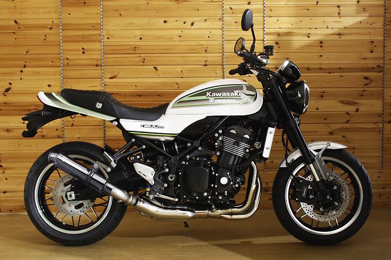 Z900RS(18年) レーシングスリップオンマフラー ショットガン/ブラックメッキ TRICK STAR(トリックスター)