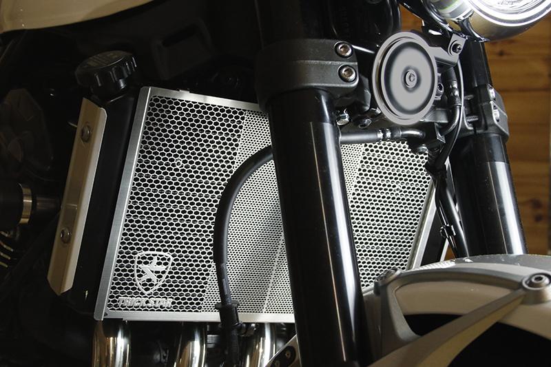 Z900RS(18年) ラジエターコアガード ブラックメッキ TRICK STAR(トリックスター)