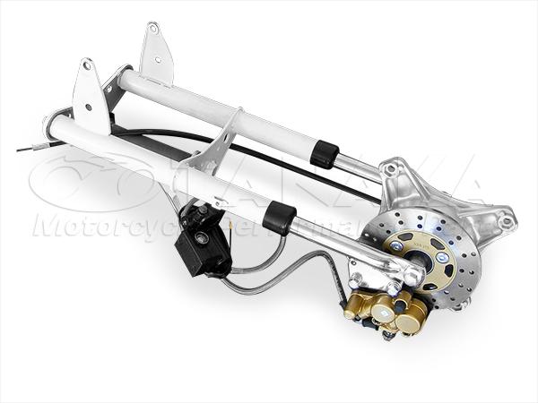 ダックス(DAX) ノーマルルックフロントフォーク ディスクブレーキキット 520mm(ショート) ホワイト 田中商会