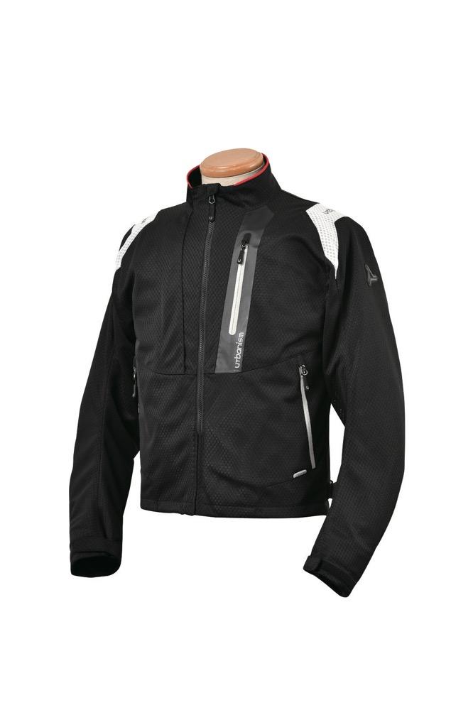 UNJ-078 ライドメッシュジャケット ブラック LBサイズ urbanism(アーバニズム)