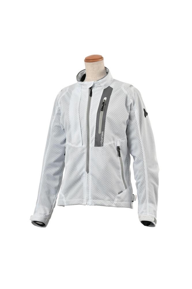UNJ-078W ライドメッシュジャケット (レディース用) ホワイト WMサイズ urbanism(アーバニズム)