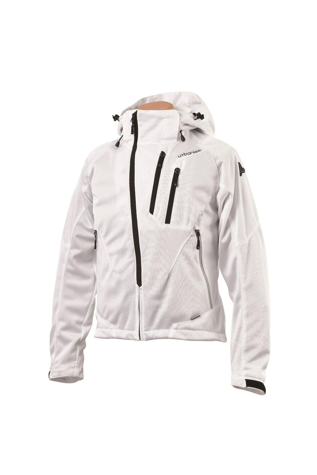 UNJ-079 フードメッシュジャケット ホワイト 3Lサイズ urbanism(アーバニズム)