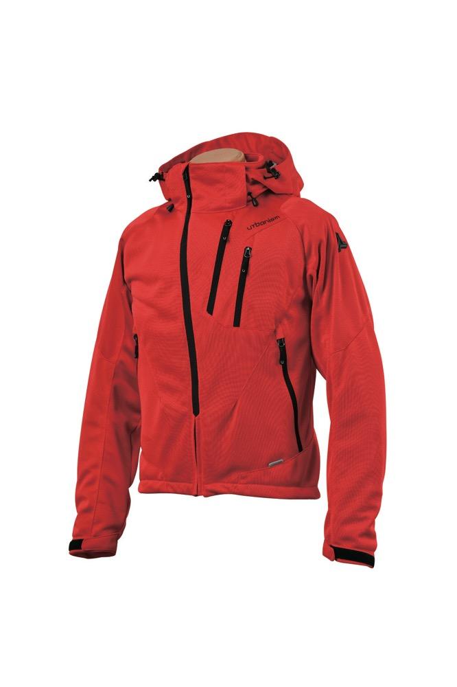 UNJ-079 フードメッシュジャケット レッド LBサイズ urbanism(アーバニズム)