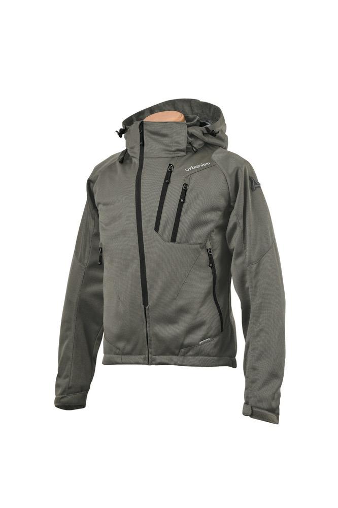 UNJ-079 フードメッシュジャケット ソイルグレイ 3Lサイズ urbanism(アーバニズム)