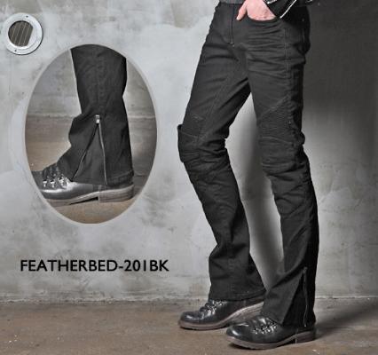 UB0011 モトパンツ フェザーベッド 201 メンズジーンズ ブラック 34インチ uglyBROS(アグリブロス)