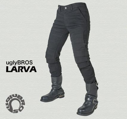 uglyBROS MOTOPANTS LARVA メンズ用 ブラック 30サイズ uglyBROS(アグリブロス)