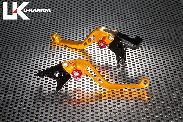 GPZ900R Ninja(ニンジャ) スタンダードタイプ ショートアルミビレットレバーセット(ゴールド) U-KANAYA
