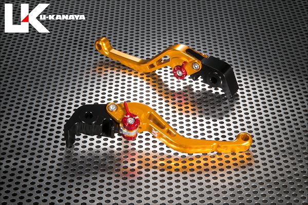 Ninja H2/R スタンダードタイプ ショートアルミビレットレバーセット(ゴールド) U-KANAYA