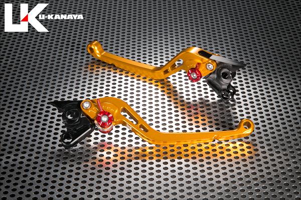 KTM 200DUKE(デューク) スタンダードタイプ ロングアルミビレットレバーセット(ゴールド) U-KANAYA