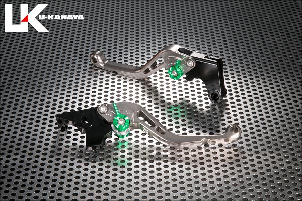 バンディット400/V(BANDIT)GK75A スタンダードタイプ ショートアルミビレットレバーセット(チタンカラー) U-KANAYA