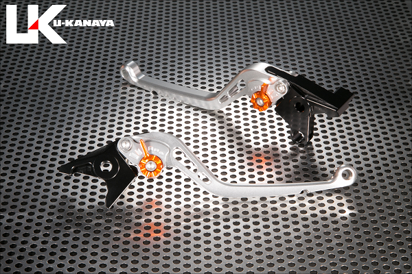 BANDIT650/S(バンディット) スタンダードタイプ ロングアルミビレットレバーセット(シルバー) U-KANAYA