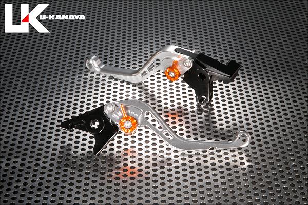 BANDIT650/S(バンディット) スタンダードタイプ ショートアルミビレットレバーセット(シルバー) U-KANAYA