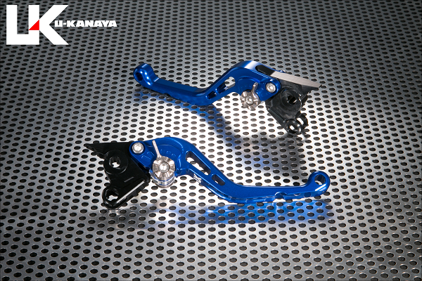 V-MAX1200 スタンダードタイプ ショートアルミビレットレバーセット(ブルー) U-KANAYA