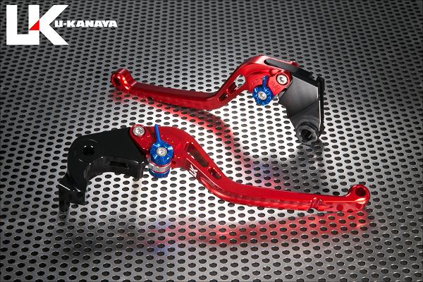 BMW S1000R(15年~) スタンダードタイプ ロングアルミビレットレバーセット(レッド) U-KANAYA