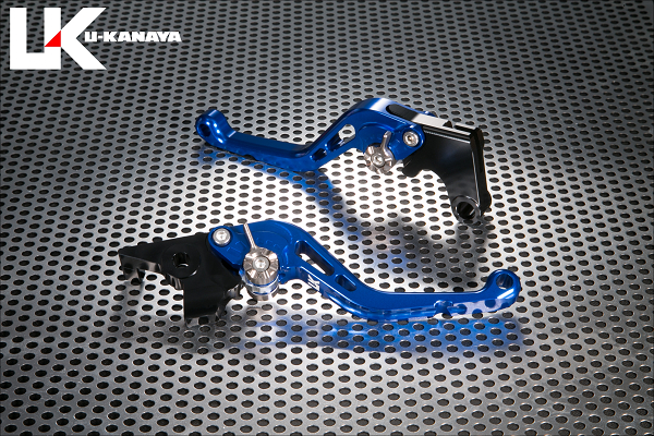 Z125 PRO(プロ)/Z125 スタンダードタイプ ショートアルミビレットレバーセット(ブルー) U-KANAYA