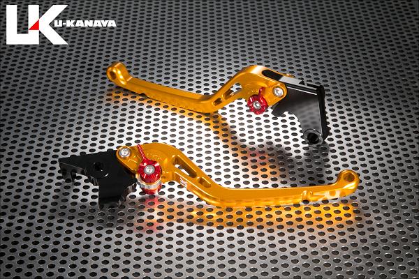 XSR900 スタンダードタイプ ロングアルミビレットレバーセット(ゴールド) U-KANAYA