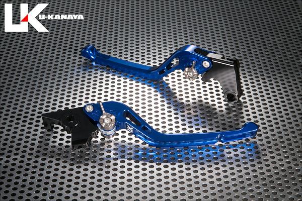CBR250RR(2BK-MC51) GPタイプ ロングアルミビレットレバーセット(ブルー) U-KANAYA