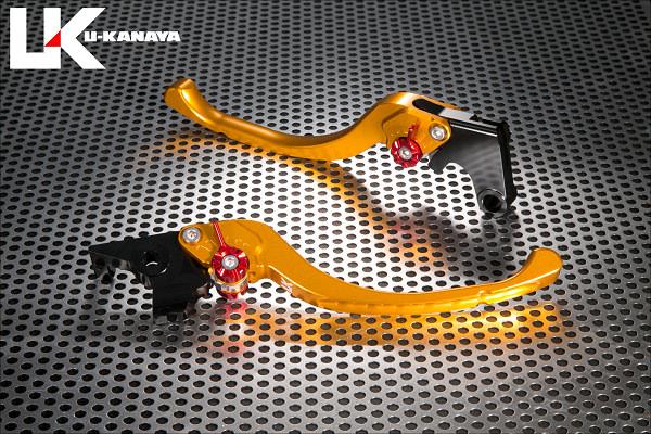 CBR250RR(2BK-MC51) ツーリングタイプ アルミビレットレバーセット(ゴールド) U-KANAYA