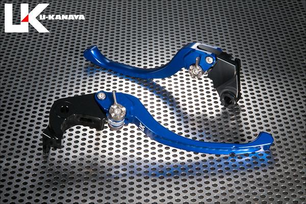 Ninja1000(ニンジャ)17年 ツーリングタイプ アルミビレットレバーセット(ブルー) U-KANAYA