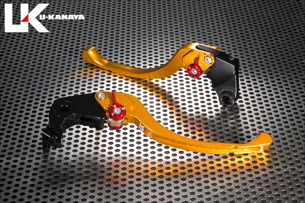 CBR1000RR FIRE BLADE(2BL-SC77) ツーリングタイプ アルミビレットレバーセット ゴールド U-KANAYA
