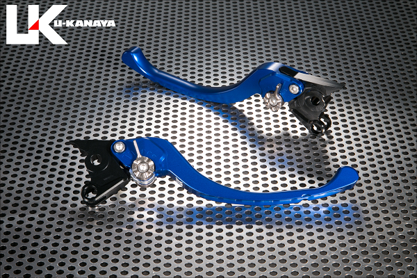 XSR700 ツーリングタイプ アルミビレットレバーセット ブルー U-KANAYA
