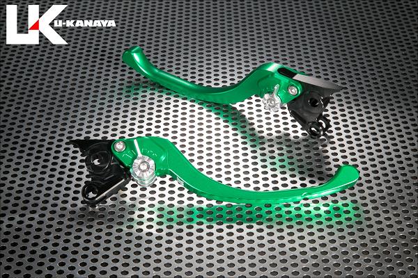 XSR700 ツーリングタイプ アルミビレットレバーセット グリーン U-KANAYA