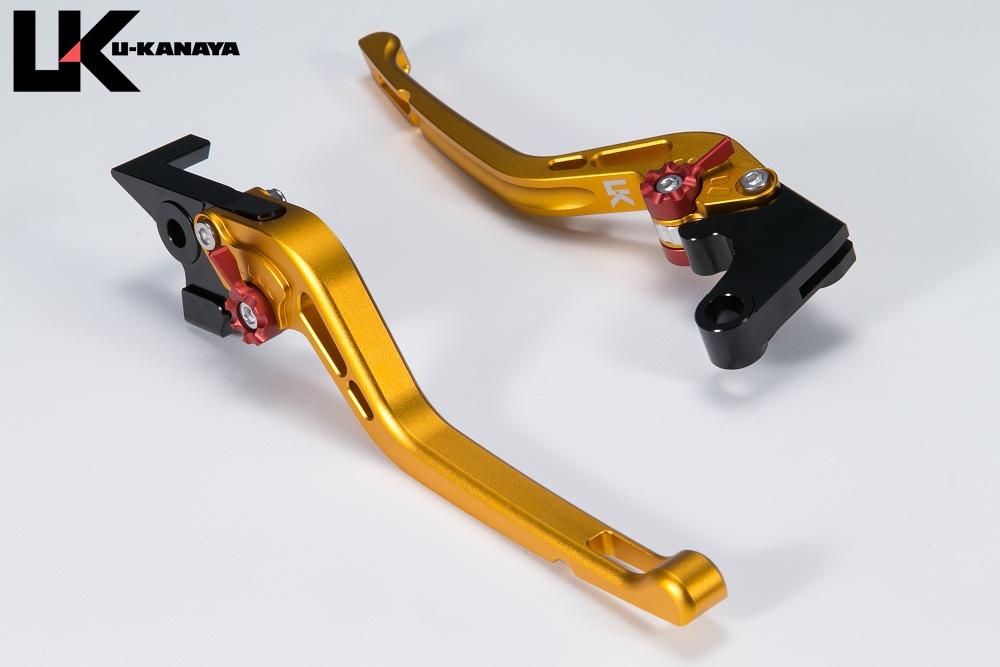 XSR900 GPタイプ ロングアルミビレットレバーセット マットゴールド U-KANAYA
