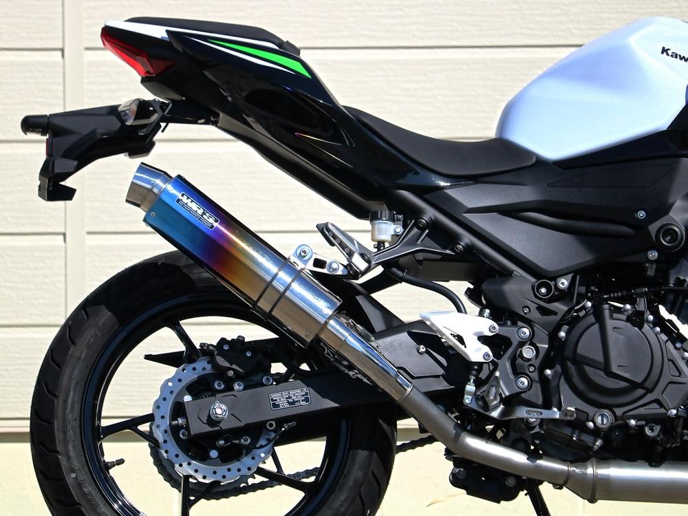 Z250(19年) ラウンドタイプ 焼き色チタンサイレンサー仕様 スリップオンマフラー WR'S(ダブルアールズ)