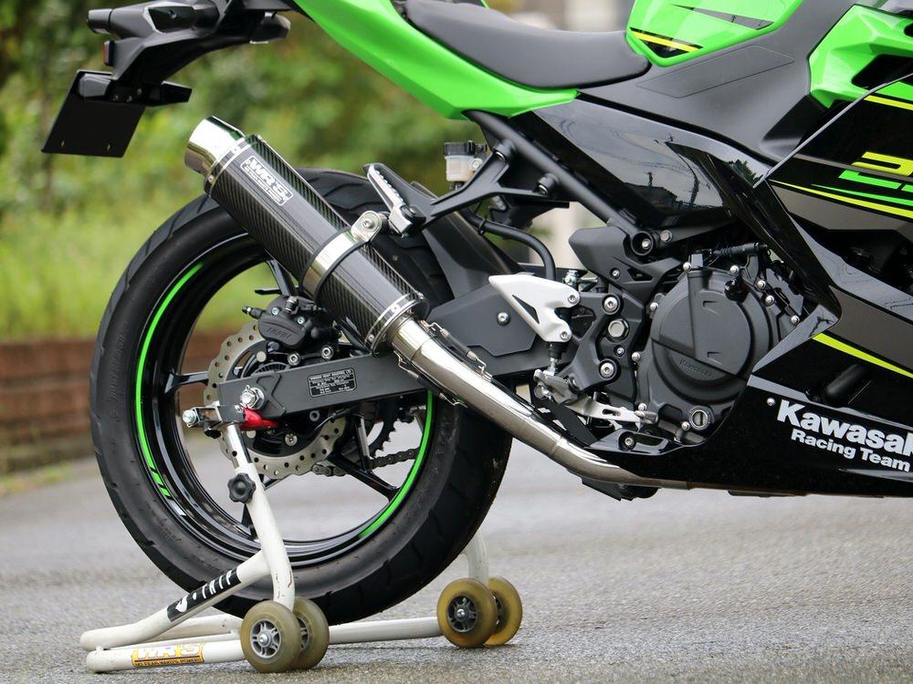 Ninja250(ニンジャ)18年 フルエキゾーストマフラー ラウンドタイプ カーボンサイレンサー仕様 WR'S(ダブルアールズ)