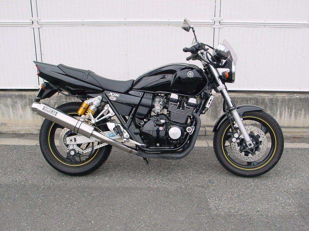 XJR400R(01年~)BC-RH02J ラウンドタイプ スリップオンマフラー ステンレス/ステンレス(JMCA認証) WR'S(ダブルアールズ)