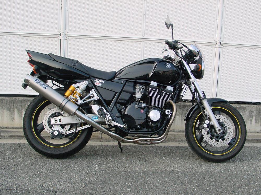 XJR400R(01年~)BC-RH02J ラウンドタイプ フルエキゾーストマフラー ステンレス/チタン (JMCA認証) WR'S(ダブルアールズ)