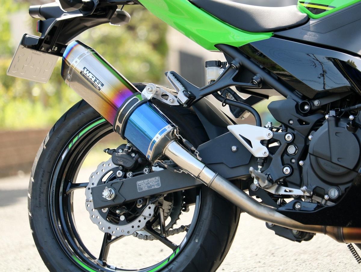 Ninja400(ニンジャ)18年 SS-OVAL スリップオンマフラー 焼き色タイプ WR'S(ダブルアールズ)
