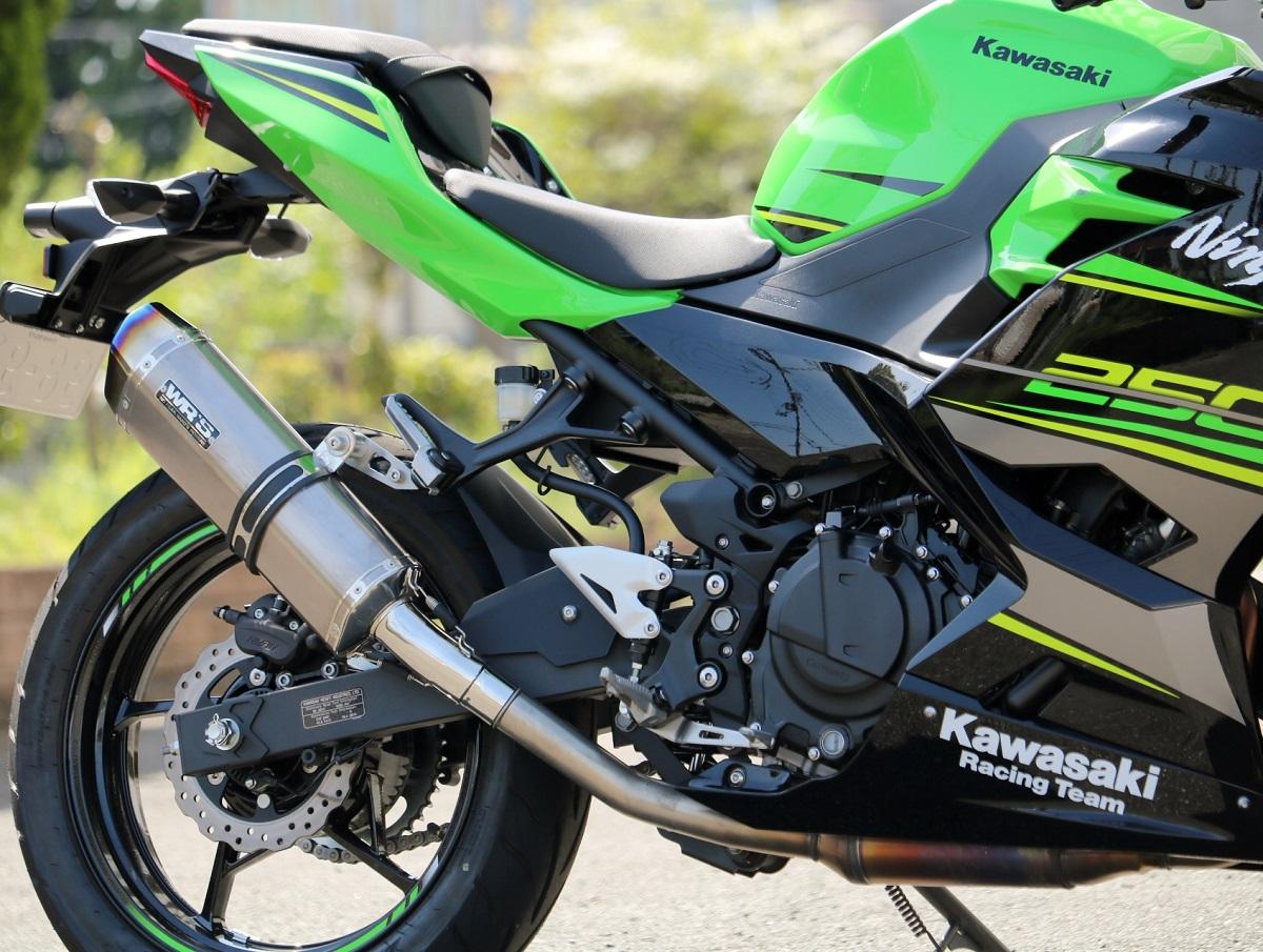 最高級のスーパー Ninja400(ニンジャ)18年 SS-OVAL スリップオンマフラー ソリッドタイプ WR'S(ダブルアールズ), 【中古】:a69ef3f7 --- supercanaltv.zonalivresh.dominiotemporario.com