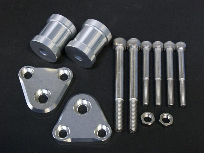 ゼファー750(ZEPHYR) エンジンハンガー(2点セット)・シルバー woodstock(ウッドストック)