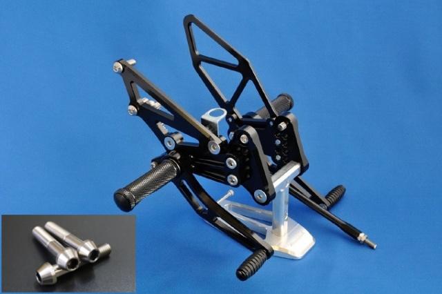 Ninja250(13~17年) バックステップ・βチタニウムボルトバージョン プレーン(表面処理なし) woodstock(ウッドストック)