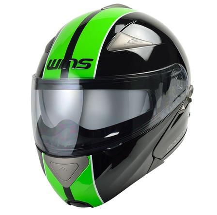 Modify ブラック・グリーン L(58~59cm) システムヘルメット WINS(ウインズ)