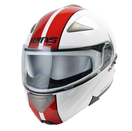 Modify ホワイト・レッド XL(59~60cm) システムヘルメット WINS(ウインズ)