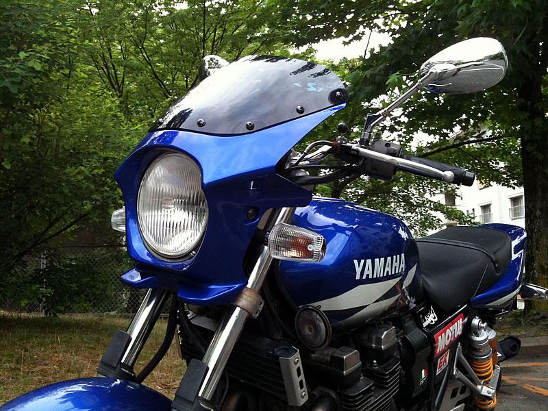 XJR1300 汎用ビキニカウル DS-01 タイプR スモークスクリーン(ディープパープリッシュブルーメタリックC)コード:0564 WORLD WALK(ワールドウォーク)