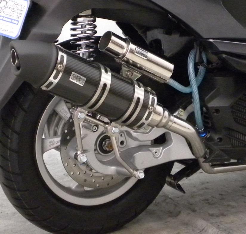トリシティ125(TRICITY125)SE82J ロイヤルマフラー ユーロタイプ ブラックカーボン仕様 ウイルズウィン(WirusWin)