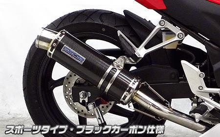 CBR250R(14年~) ダイナミックマフラー スポーツタイプ ブラックカーボン仕様 ウイルズウィン(WirusWin)