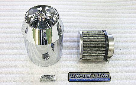 Dio110(ディオ110)JF58 ブリーズタイプ エアクリーナーキット シルバーメッキタイプ ウイルズウィン(WirusWin)