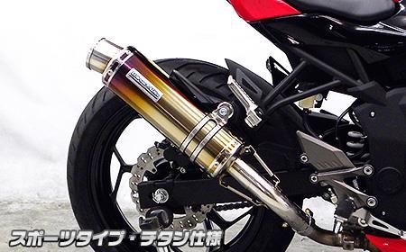 Ninja250SL(ニンジャ250SL) スリップオンマフラー スポーツタイプ チタン仕様 ウイルズウィン(WirusWin)
