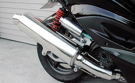 シグナスX(2型)台湾仕様 O2センサー装着車 コンビネーションマフラー ウイルズウィン(WirusWin)